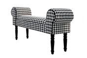 Casa Padrino Baroque stool stool Black / White - Bench