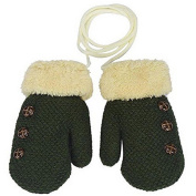 HENGSONG Warm Gloves Kids Baby Boys Girls Toddler Knitted Mittens Leaf Gloves