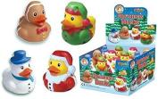 12 X Christmas Rubber Bath Ducks