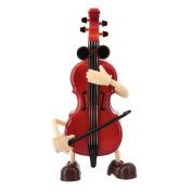 Novias Boutique Violin Shaped Musical Boxes Festival Birthday Gift for Children Kids