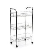 Chromed steel trolley (28x50x75) 3 baskets