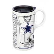 Team Sports America 3TBT3808A Dallas Cowboys Tall Boy Cup, White