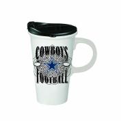 Team Sports America 3CTC3808 Dallas Cowboys Perfect Cup, White