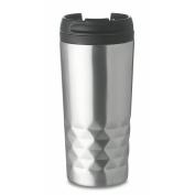 Double wall travel mug 280 ml - matt silver