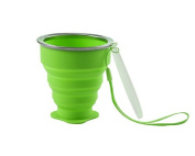 Kingken 190ML Portable Silicone Foldable Mug Water Cup with Lid for Camping Travel