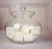 Round Clear Glass Bonbon Jar & Lid 22 cm high | Apothecary Decor Jar iLotta