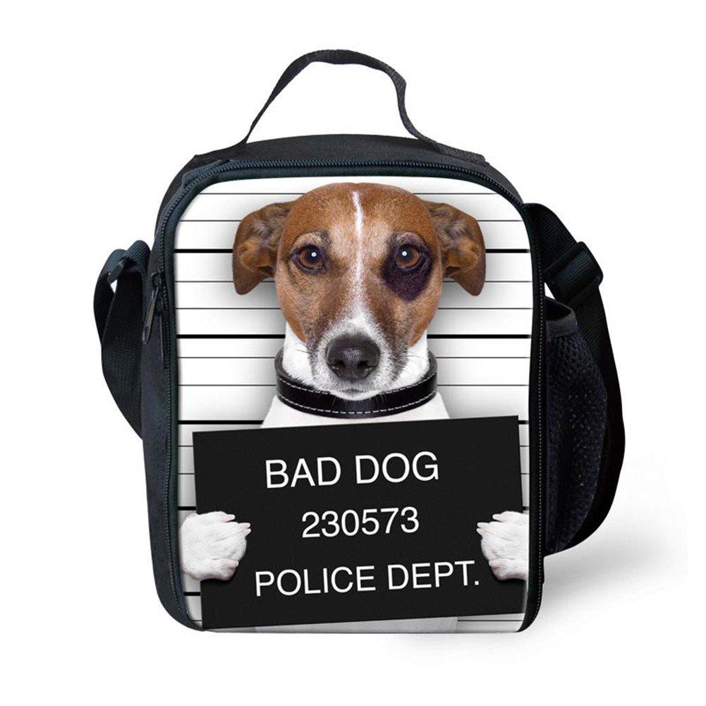 e41144b914fb HUGS IDEA Fun Bad Dog Print Lunch Bags Food Thermal Bag