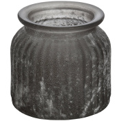 Hill Interiors Short Black Glass Jar With White Splattered Effect (One Size)