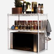 Anna Kitchen Shelves Microwave oven racks double storage rack kitchen floor finishing two shelves