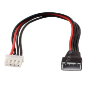 Charger Cable - TOOGOO(R) RC 3S Lipo Battery 4Pin JST-EH Plug Balance Charger Cable Extension Black+Red