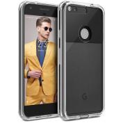 Google Pixel XL Phone Case, BEZ® Transparent Clear Case for Google Pixel XL, Hybrid Shock Absorption TPU Bumper Drop Protection Hard Cover