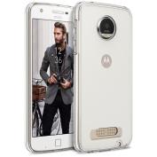 Motorola Moto Z Play Case, BEZ® Clear Phone Case for Motorola Moto Z Play, Transparent Hybrid Shock Absorption TPU Bumper Drop Protection Hard Cover
