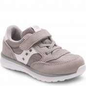 Saucony Unisex Baby Jazz Lite Toddler Sneaker (Toddler/Little Kid/Big Kid), Grey/White, 9 XW US Toddler