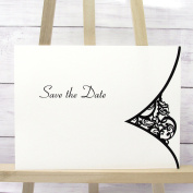 10 Save The Date Cards Postcard Style Black and White Pre-Printed Incs Envelopes