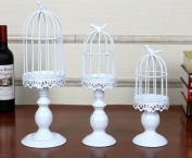 EXOH Party Wedding Centrepiece Decor Romantic Iron Birdcage Candle Holder