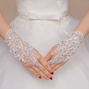 Ajunr-Gloves Bridal Lace Short Big Size Wedding Wedding Dresses Wedding Dresses Accessories