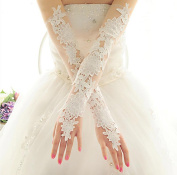 Ajunr-Gloves Bridal Lace White Wedding Wedding For Spring And Summer
