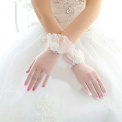 Ajunr-Gloves Bridal Winter Bridal Short White Lace Wedding Flower