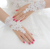 Ajunr-Gloves Bridal Veil Short Lace Wedding Accessories Finger