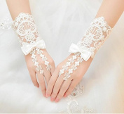Ajunr-Gloves Bridal Wedding Wedding Dresses White Wedding Lace Short Spring And Summer