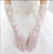 Ajunr-Gloves Bride Spring Long White Lace All Refers To Wedding Dresses Accessories Sunscreen Scar