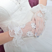 Ajunr-Gloves Bridal Gowns Dresses Wedding Mesh Applique