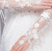 Ajunr-Gloves The Bride Wedding Photos On Sunscreen Lace Flowers Wedding Band Drill