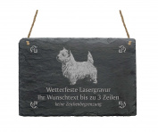 "Slate Westie ""Your Text/Design 22 x 16 cm – Dog Sign"