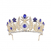 Frcolor Crown Ladies Luxury Rhinestone Tiara with Rhinestones for Wedding Pageant Prom Party Jewellery