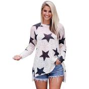 Wanshop® Fashion Women Ladies Casual Autumn Long Sleeve Round Neck Loose Blouse Tops Blouse Clothes T Shirt