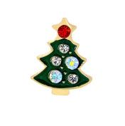 Gespout Fashion Christmas Tree Wedding Bride Diamond Brooch Pin Elegant Ladies Rhinestone Clothes Scarf Shawl Clip Decorations