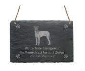 "Slate Manchester Terrier ""Your Text/Design 22 x 16 cm – Dog Sign"