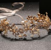 Bride Headdress Diamond Alloy Pearl Ribbon Hair Band Wedding / Party / Dance Hair Crown