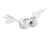 Pigeon couple figurine wedding groom wedding decoration 8 cm Ring Wedding Party