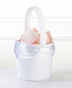 White Sash Flower Basket