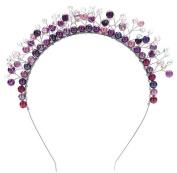 Bride purple headdress alloy crystal pearl bride Hair crown and wedding dress Accessories imperial crown