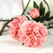 Xshuai® Artificial Silk Fake Flowers Peony Floral Bridal Bouquet Perfect for Wedding Party Birthdays Anniversaries Valentines Home Decoration