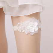 Garter Lace Imitation Pearl Floral