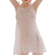 wuayi Lingerie Women Underwear Babydoll Sleepwear Lace Bra Dress G-string Set Nightwear