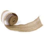 Scrox 1Roll Retro Jute Rope Burlap Banner Hessian Burlap Lace Ribbon for DIY Craft Wedding Home Decor Christmas decorations