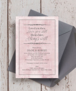Personalised 'Love You Then, Love You Still' Quote Wedding Anniversary Invitations with Envelopes