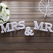 PriMI MR MRS Wedding Props Wooden English Letter Ornaments Wedding Supplies Wooden Crafts