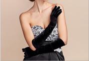 Dbtxwd Glove In the Long Section Warm Velvet Finger Gloves Etiquette Wedding Dress Banquet Gloves