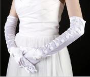 Dbtxwd Glove Dresses Bride Bridesmaid Banquet Sunscreen Finger Gloves Elbow Length Satin Gloves