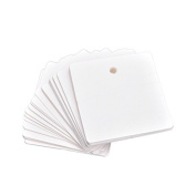 COFCO 100pcs Square Blank Kraft Paper Hang Tags Label Price Tags Wedding Party Favour Gift Cards