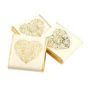 Neviti Vintage Romance Squares-Ivory, Chocolate, Gold, 3.5 x 3.5 x 0.5 cm