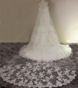 Wedding Veil 3m Bride In Europe And America Retro Carved Lace With Long Combs Tail The Soft Yarn
