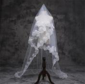 Wedding Veil 5m European And American Women Wedding Dress Lace Lace Veil Bridal Hexagonal Flower Head Yarn Long Section