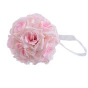 JuneJour Artificial Pomander Flower Real Touch Bride Bouquet for Wedding Party Decoration 15cm