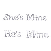 """Syndecho """"He's Mine"""" """"She's Mine"""" Crystal Rhinestone Wedding Shoes Stickers Shoes Applique Decals"""